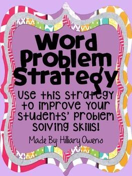 Word Problem Strategy {Measurement}