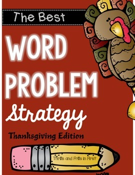 Word Problem Strategy - Thanksgiving