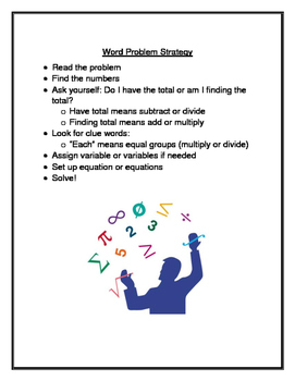 Word Problem Strategy - all grades