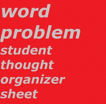 Word Problem Student Organizer