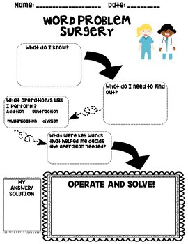 Word Problem Surgery: Word Problem Graphic Organizer