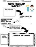 Word Problem Surgery: Word Problem Graphic Organizer