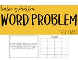 Word Problem Task Cards || Basic Operations