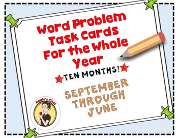Word Problem Task Card Bundle