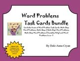 Word Problem Task Card Bundle - (3.OA.8 and 4.OA.3)