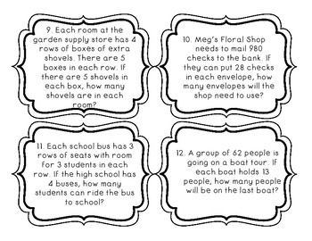 Word Problem Task Cards 1