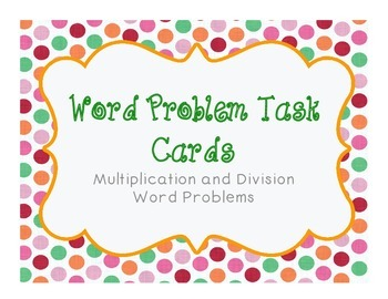 Word Problem Task Cards 1