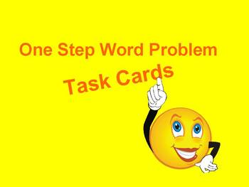 One Step Word Problem Task Cards