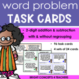 Word Problem Task Cards:  2-digit Addition and Subtraction