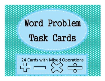 Math Word Problem Task Cards