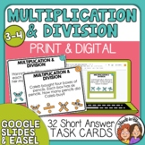 Word Problem Task Cards:  Multiplication and Division