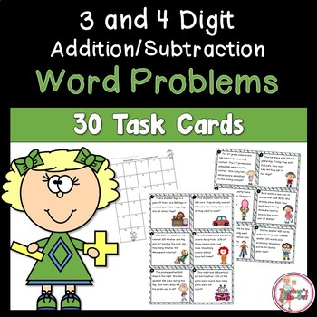 Word Problems Using 3 and 4-Digit Addition/Subtraction