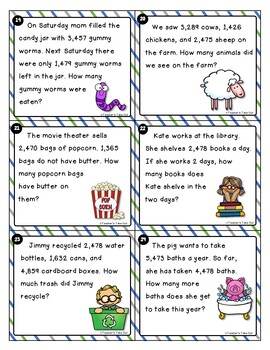 Word Problems Using 3 and 4-Digit Addition/Subtraction by ...
