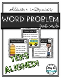 Word Problem Task Cards within 20