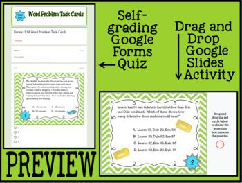 Word Problem Task Cards 3rd Grade Math TEKS 3.4A: CCSS 3.OA.D.8