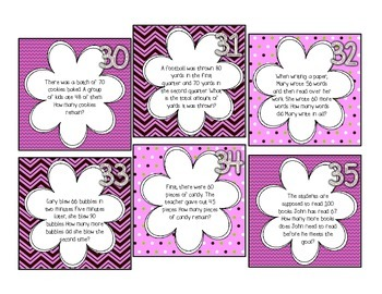 Word Problem Task Cards, Addition & Subtraction