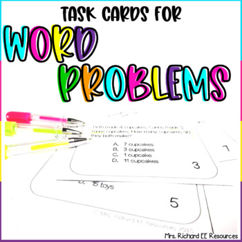 Differentiated Addition and Subtraction Word Problem Task Cards