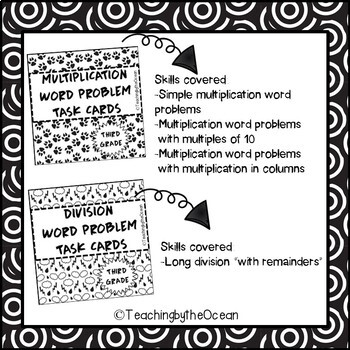 Word Problem Task Cards - BUNDLE