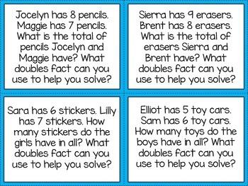 Word Problem Task Cards Bilingual