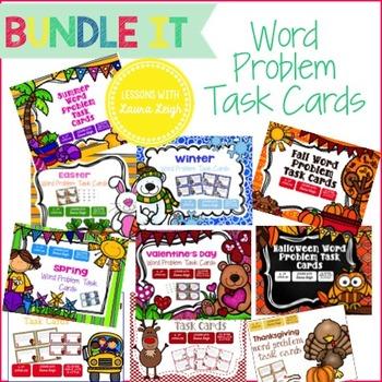 Word Problem Task Cards {Bundle}
