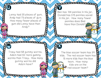 Word Problem Task Cards CGI and Common Core Aligned