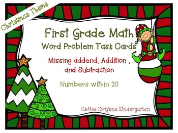 Word Problem Task Cards - Christmas Theme!