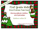 Word Problem Task Cards - Christmas Theme!