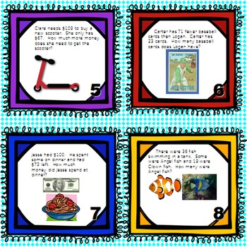 One and Two-Step Word Problem Task Cards: Engage NY Module 4