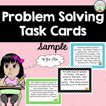 Word Problem Task Cards - FREEBIE