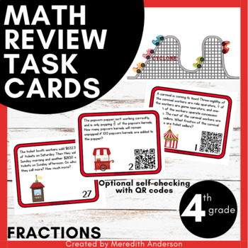 Fractions Task Cards - Word Problems