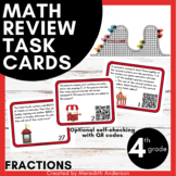 Fractions Task Cards for 4th - Word Problems great for test prep and review