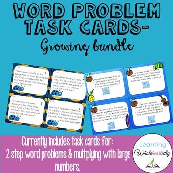 Word Problem Task Cards (Growing Bundle)