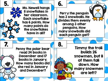 Word Problem Task Cards *Growing Bundle*
