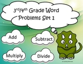 Word Problem Task Cards: Multiplication, Division, Addition & Subtraction