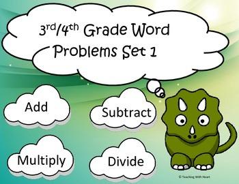 Word Problem Task Cards: Multiplication, Division, Addition & Subtraction