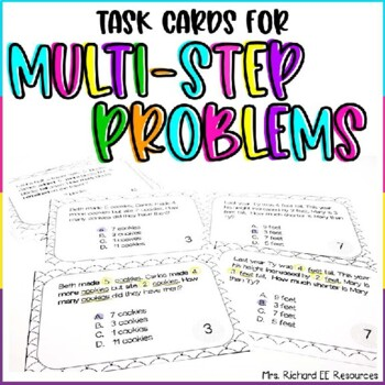 Differentiated Multi-step Additon and Subtraction Word Problem Task Cards