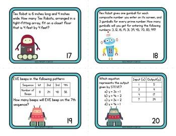 Word Problem Task Cards Operations & Algebraic Thinking