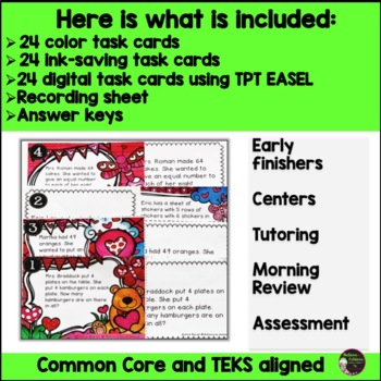Word Problem Task Cards-Set E- 2 Versions! (Multiplication and Division)