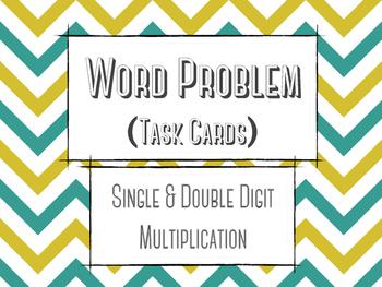 Word Problem Task Cards: Super Hip Multiplication