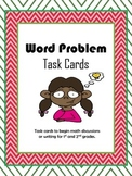 Word Problem Task Cards for Math Talks, Writing, and Games - Grades 1-2