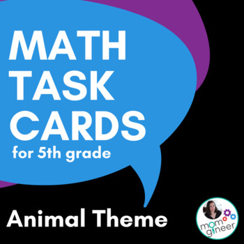 5th Grade Math Word Problems Task Cards