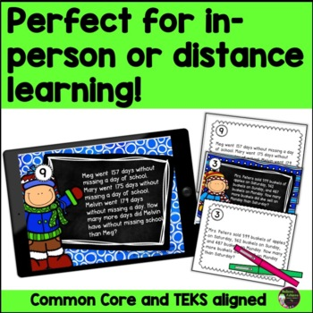 Word Problem Task Cards-Set B- 2 Versions!