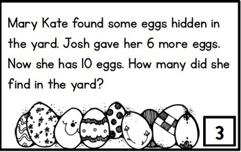 Word Problem Task Cards to 20 - Hopping Down the Bunny Trail