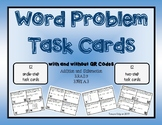 Word Problem Task Cards with/without QR codes
