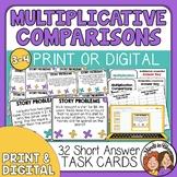 Word Problem Task Cards for Multiplicative Comparison Card