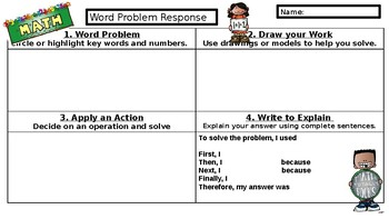 Word Problem Template