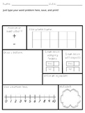 Word Problem Template - Addition and Subtraction within 10 - EDITABLE!