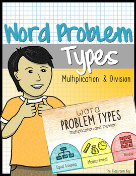 Word Problem Types, Multiplication and Division, CGI Math Unit for 3rd Grade