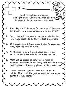 Word Problem Unit - Problem Solving Detectives - Common Core Aligned