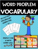 Word Problem Vocabulary Cut-out Cards and Chart